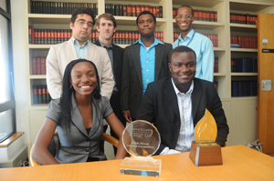 UCT law team that won the SA national round of the Phillip Jessup International Law Moot Court Competition